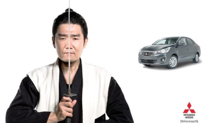 Mitsubishi Attrage için  'Samuray'lı tanıtım