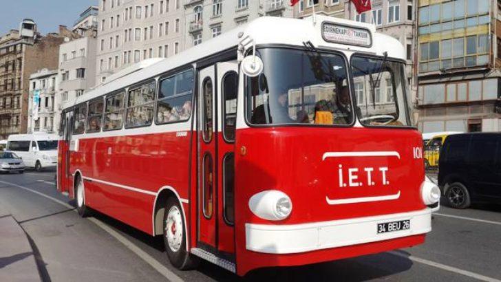 Eski İETT Otobüsleri Yeni Senede Yollarda