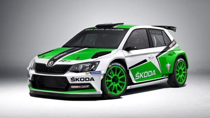 Skoda'nın Yeni Ralli Aracı Fabia R5 Yarışmaya Hazır!