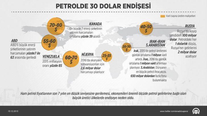 Petrol ihraç eden ülkelerde 30 dolar endişesi