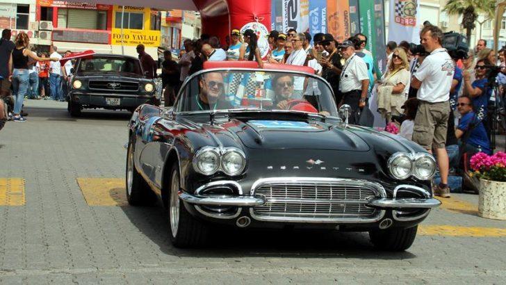 Marmaris Rallisi öncesi klasik otomobiller yarıştı
