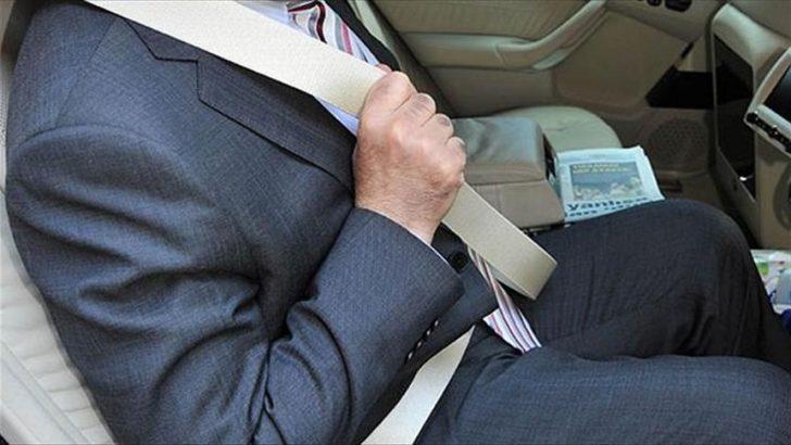 Arka koltukta emniyet kemeri takmayana ceza