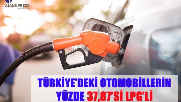 TÜRKİYE'DEKİ OTOMOBİLLERİN YÜZDE 37,87'Sİ LPG'Lİ
