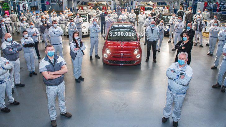Fiat'ın ikonik modeli 500, 2,5 milyonluk rekor üretim adedine ulaştı.