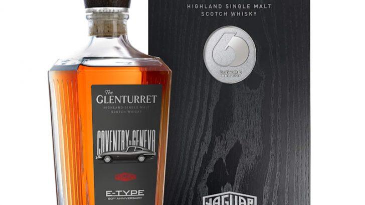 JAGUAR E-type'ın yaş günü için viski ve saat