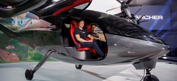 """ARCHER firmasının, """"maker"""" isimli  iki  kişilik dikey kalkışlı hava aracı piyasaya çıkıyor."""